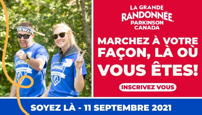 Marchez à votre façon, là où vous êtes - Participez à la Grande Randonnée de Parkinson Canada le 11 septembre 2021