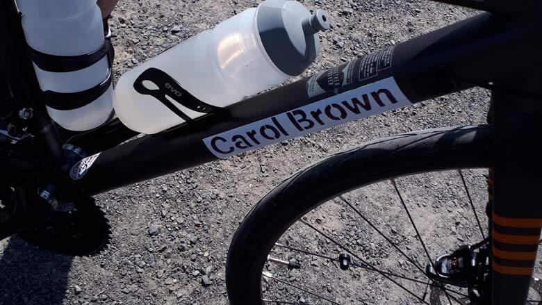 Photo du nom de Carol Brown sur un vélo
